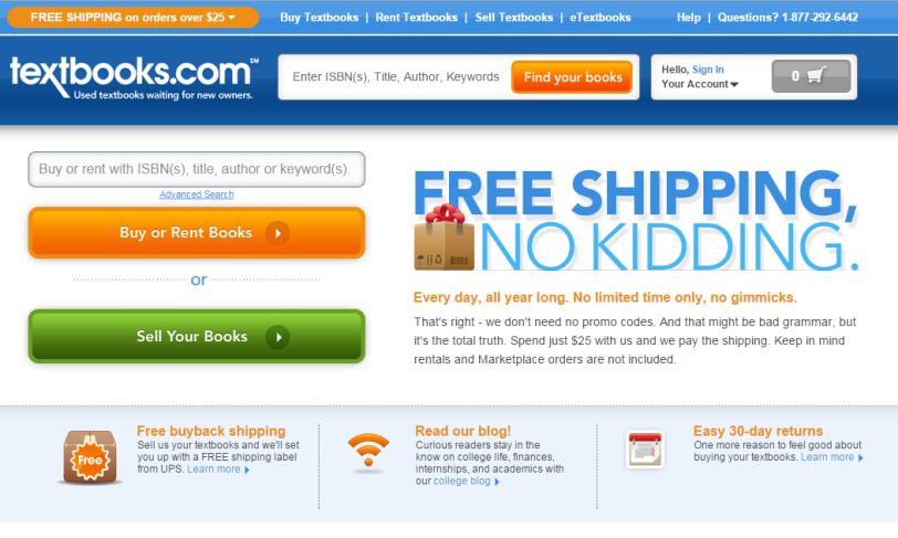 textbooks webpage